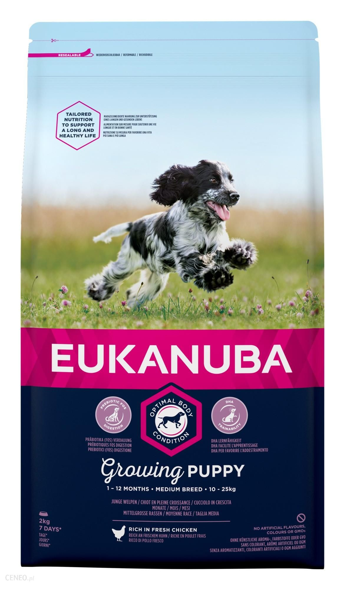Eukanuba Growing Puppy Medium Breed - karma dla szczeniaka